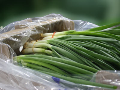 Green Onion Fresh Product Packaging