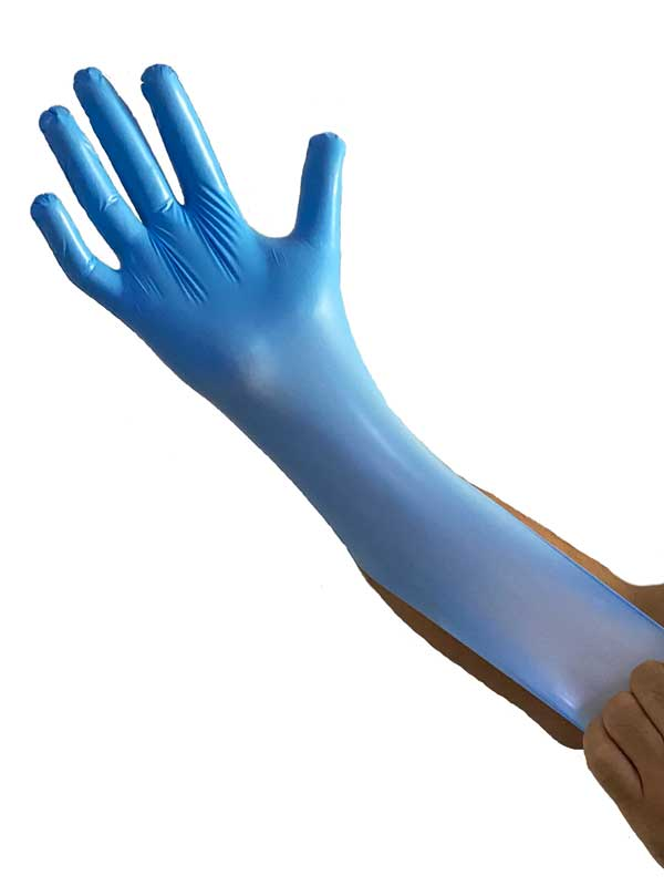 Aypek Ultra Soft Hibrit Eldiven Pudrasız Mavi